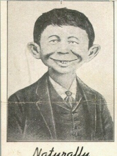 Go to Postcard Pre-MAD Alfred E. Neuman 'Anti-FDR' #2 • USA