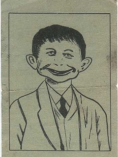 Go to Postcard Pre-MAD Alfred E. Neuman 'Anti-FDR' #3 • USA