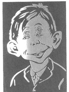 Go to Postcard Pre-MAD Alfred E. Neuman '4 Eyes' • USA