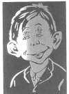 Image of Postcard Pre-MAD Alfred E. Neuman '4 Eyes'