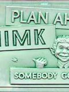 Plastic Vacuform Postcards with Alfred E. Neuman (Green 'Thimk' Version) • USA