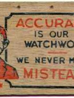 "Go to Postcard Pre-MAD Alfred E. Neuman ""Acuracy"" WOOD GRAIN"