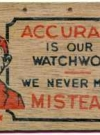 "Postcard Pre-MAD Alfred E. Neuman ""Acuracy"" WOOD GRAIN"