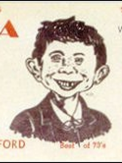 Go to Postcard Pre-MAD Alfred E. Neuman ABEL SANTOS (Ham Operator) • USA
