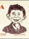 Image of Postcard Pre-MAD Alfred E. Neuman ABEL SANTOS (Ham Operator)