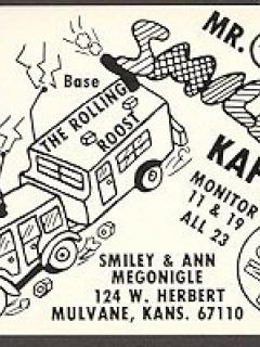 Go to Postcard Pre-MAD Alfred E. Neuman Mr & Mrs Smiley (Ham Operator)