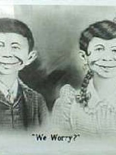 Go to Postcard Pre-MAD Alfred E. Neuman with Wife 1941 • USA