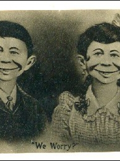 Go to PostcardPre-MAD Alfred E. Neuman with Wife (dark) • USA