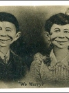Image of PostcardPre-MAD Alfred E. Neuman with Wife (dark)