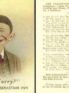 Go to Postcard Pre-MAD Alfred E. Neuman Sebastian Inn • USA