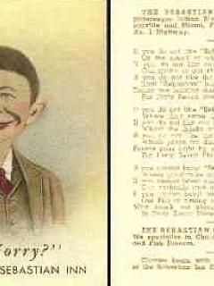 Go to Postcard Pre-MAD Alfred E. Neuman Sebastian Inn