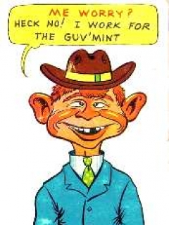 "Go to Postcard Pre-MAD Alfred E. Neuman ""I work for the Guv-Mint"" • USA"