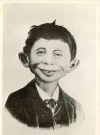 "Image of Postcard Pre-MAD Alfred E. Neuman b/w ""What me worry?"""