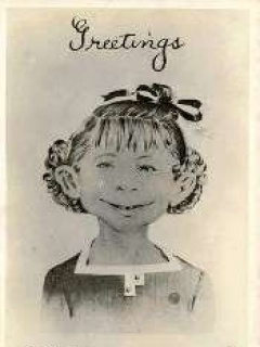 "Go to Postcard Pre-MAD Alfred E. Neuman b/w ""Greetings...What me worry?"" • USA"