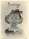 "Image of Postcard Pre-MAD Alfred E. Neuman b/w ""Greetings...What me worry?"""