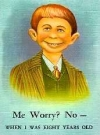 "Image of Postcard Pre-MAD Alfred E. Neuman b/w ""Me worry? No"""