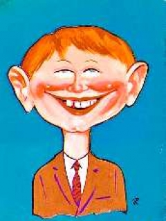 "Go to Postcard Pre-MAD Alfred E. Neuman ""Me worry?"" • USA"