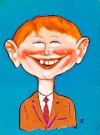 "Image of Postcard Pre-MAD Alfred E. Neuman ""Me worry?"""