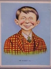 "Image of Postcard Pre-MAD Alfred E. Neuman ""Me worry?"" (Checkered Coat, Larger Image)"