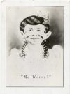 "Image of Postcard Pre-MAD Female Alfred E. Neuman ""Me worry?"""