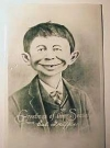 Image of Postcard Pre-MAD Alfred E. Neuman Christmas