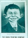 "Image of Postcard Pre-MAD Alfred E. Neuman ""Smile"" (Quick Printing Company)"