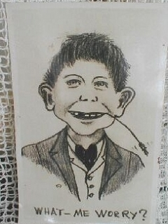 "Go to Postcard Pre-MAD ""What me Worry?"" Alfred E. Neuman ""Alfred Hey Seed"" • USA"