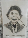 "Image of Postcard Pre-MAD ""What me Worry?"" Alfred E. Neuman ""Alfred Hey Seed"""