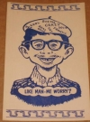Image of Postcard Alfred E. Neuman Beatnik Like Man - Me Worry? (Blue)