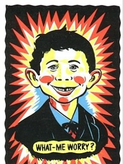 Go to Postcard Pre-MAD Alfred E. Neuman (IMPKO gags in Day Glow Colors) • USA