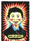Image of Postcard Pre-MAD Alfred E. Neuman (IMPKO gags in Day Glow Colors)