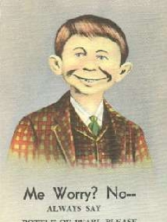 "Go to Postcard Alfred E. Neuman ""Pearl Beer"" • USA"