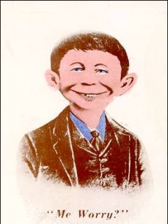 Go to Postcard Pre-MAD Colored Alfred E. Neuman (# 36) • USA