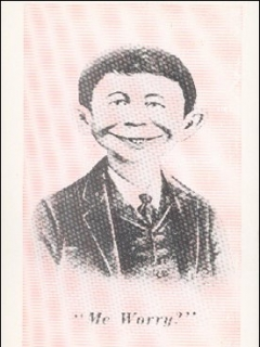 Go to Postcard Pre-MAD Pink & Black Alfred E. Neuman (# 36) • USA