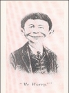 Image of Postcard Pre-MAD Pink & Black Alfred E. Neuman (# 36)