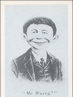 Go to Postcard Pre-MAD Grey Alfred E. Neuman (# 36) • USA