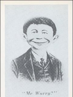 Go to Postcard Pre-MAD Grey Alfred E. Neuman (# 36)