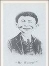 Image of Postcard Pre-MAD Grey Alfred E. Neuman (# 36)