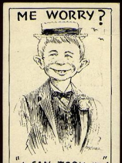 Go to Postcard Pre-MAD Alfred E. Neuman 'I can took it' • USA