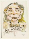 Image of Postcard Pre-MAD Alfred E. Neuman 'Me Worry?' Elmer Anderson