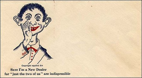 Envelope 'Anti New Deal' with Alfred E. Neuman • USA