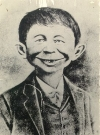 Image of Postcard Alfred E. Neuman 'What, Me Worry?' Great Oak Inn. N.J.