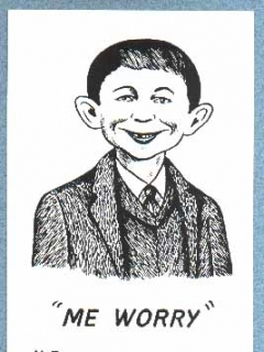 Go to Postcard Alfred E. Neuman 'Me worry?'  • USA
