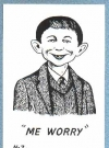 Image of Postcard Alfred E. Neuman 'Me worry?'