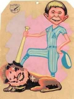 Go to Postcard Pre-MAD Alfred E. Neuman Cuban Baseball Art