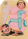 Image of Postcard Pre-MAD Alfred E. Neuman Cuban Baseball Art