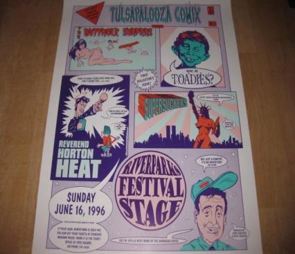 Poster Tulsapalooza Comix - Concert • USA