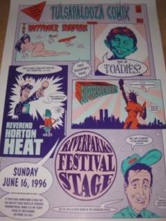 Poster Tulsapalooza Comix - Concert