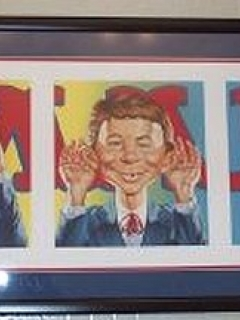 Go to Portrait framed Alfred E. Neuman 'See no, speak no, hear no' Evil