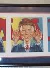 Image of Portrait framed Alfred E. Neuman 'See no, speak no, hear no' Evil